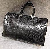 Сумки и аксессуары handmade. Livemaster - original item Travel / sports bag made of crocodile belly, premium. Handmade.