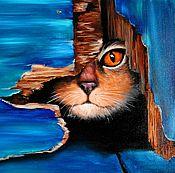 Картины и панно ручной работы. Ярмарка Мастеров - ручная работа Картина маслом Пока ничей. Handmade.