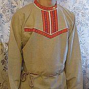 Русский стиль ручной работы. Ярмарка Мастеров - ручная работа мужская рубаха Лель. Handmade.