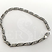 Украшения handmade. Livemaster - original item Chain bracelet: Silver bracelet molding, with crosses. Handmade.