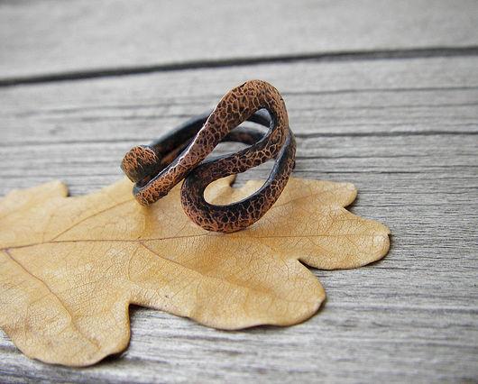 """Кольца ручной работы. Ярмарка Мастеров - ручная работа. Купить Кольцо """"Извилисты пути судьбы"""". Handmade. Кольцо, медь, медь"""