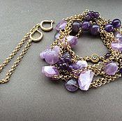 Украшения handmade. Livemaster - original item With pendant and earrings BLACKBERRY COCKTAIL. Handmade.
