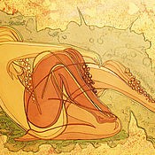 """Картины и панно ручной работы. Ярмарка Мастеров - ручная работа картина """"настя, алена, наргиз"""". Handmade."""