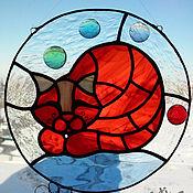 Для дома и интерьера ручной работы. Ярмарка Мастеров - ручная работа Панно для интерьера Рыжий котик. Handmade.