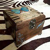 Для дома и интерьера ручной работы. Ярмарка Мастеров - ручная работа Шкатулка Полет бабочки. Handmade.
