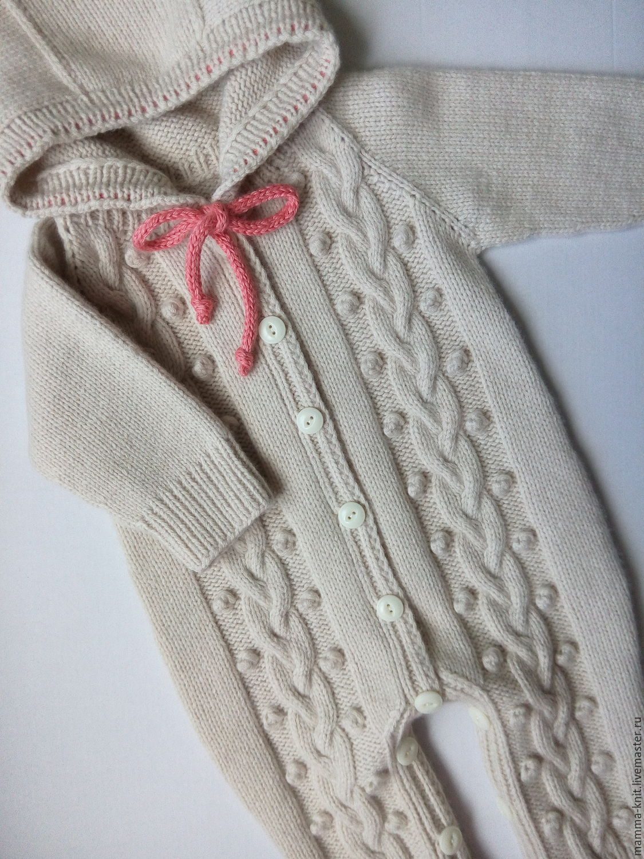 Вязание детский комбинезон с капюшоном 43