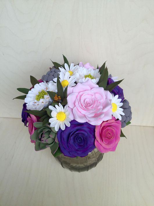 Свадебные цветы ручной работы. Ярмарка Мастеров - ручная работа. Купить Букет невесты из полимерной глины. Handmade. Букет, невеста