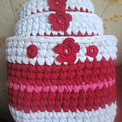 Для дома и интерьера ручной работы. Ярмарка Мастеров - ручная работа Коробочки для хранения Малина. Handmade.
