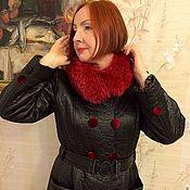 Одежда ручной работы. Ярмарка Мастеров - ручная работа Пальто из балони с красным песцом. Handmade.