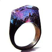 Украшения handmade. Livemaster - original item Wooden ring polar night. Ring made of natural wood. Handmade.