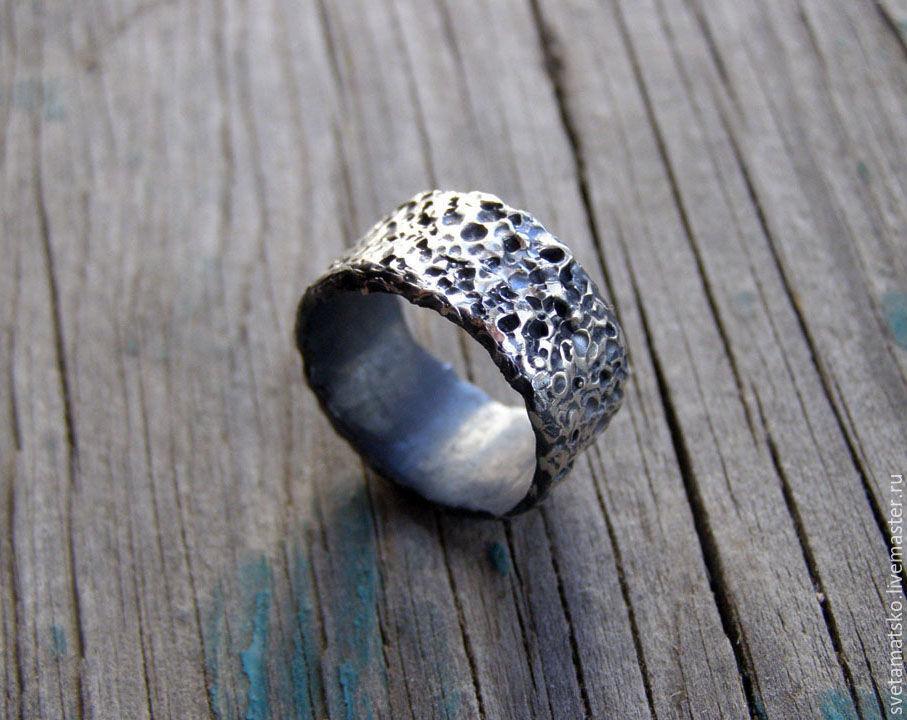 Кольцо унисекс серебро