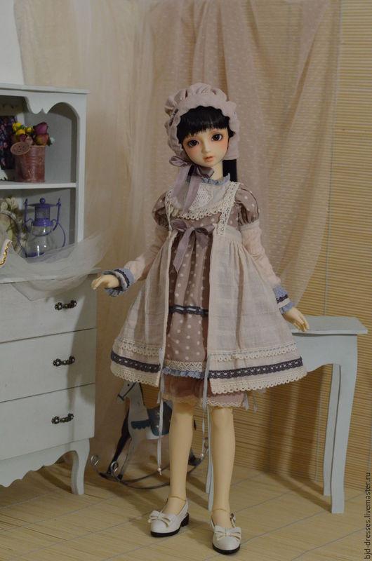 """Одежда для кукол ручной работы. Ярмарка Мастеров - ручная работа. Купить Скидка! Одежда для куклы BJD формата SD """"В бежевых тонах"""". Handmade."""