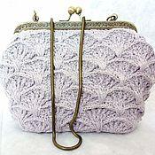 Сумки и аксессуары handmade. Livemaster - original item Bag with clasp, lilac. Handmade.