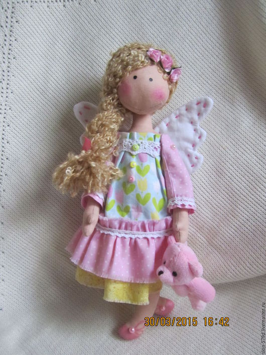 Коллекционные куклы ручной работы. Ярмарка Мастеров - ручная работа. Купить Кукла Аля. Handmade. Бледно-розовый, кукла текстильная