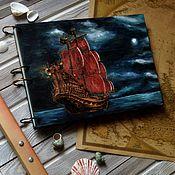 "Канцелярские товары handmade. Livemaster - original item Notepad A4 ""Pirate ship"". Handmade."