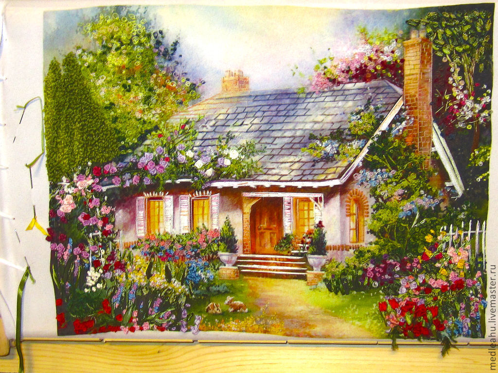 Вышивка лентами картины пейзажи 96