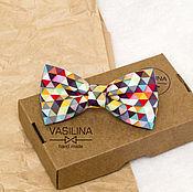 handmade. Livemaster - original item The bow-tie Geometry Triangles. Handmade.