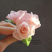 Украшения ручной работы. Ярмарка Мастеров - ручная работа Шпильки с розовыми розами. Handmade.