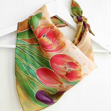 Accessories handmade. Livemaster - original item Batik handkerchief
