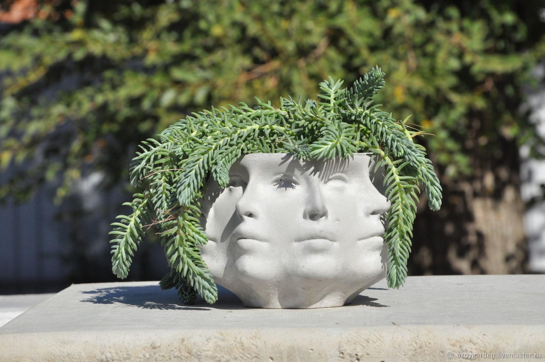 Pots made of concrete Pansophia original multi-faceted pot, Pots1, Azov,  Фото №1
