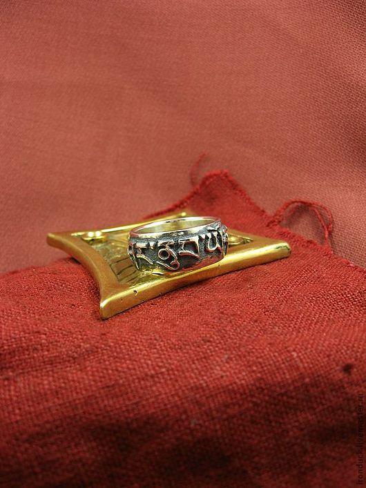 Медитация ручной работы. Ярмарка Мастеров - ручная работа. Купить кольцо с надписью.. Handmade. Серебряный, кольцо, санскрит