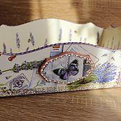 """Для дома и интерьера ручной работы. Ярмарка Мастеров - ручная работа Поднос """"Лаванда"""". Handmade."""