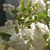 Цветы и флористика handmade. Livemaster - original item White lilac bouquet