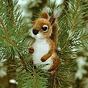 handmade. Livemaster - original item felted toy Squirrel. Handmade.