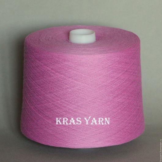 Вязание ручной работы. Ярмарка Мастеров - ручная работа. Купить Пряжа Хлопок на бобинах Кабле. Розовый кварц. Handmade.