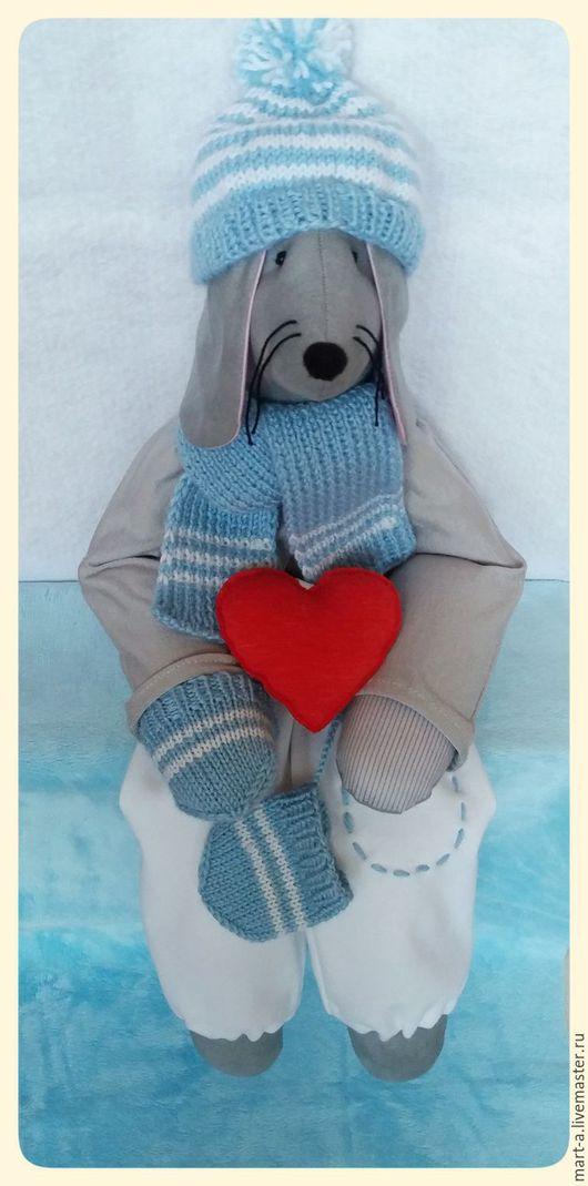 Куклы Тильды ручной работы. Ярмарка Мастеров - ручная работа. Купить Мышка по имени Мишка. Handmade. Текстильная кукла, шарф