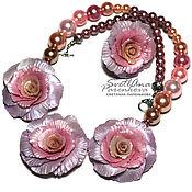 Jewelry Sets handmade. Livemaster - original item set of polymer clay dusty rose dusty rose (115). Handmade.