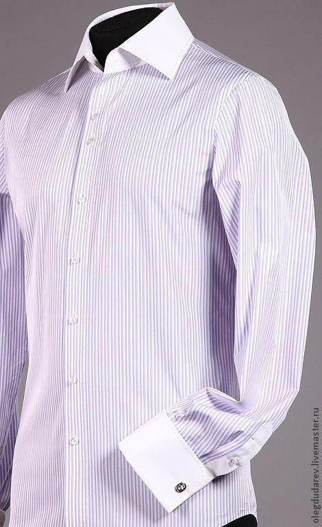 Для мужчин, ручной работы. Ярмарка Мастеров - ручная работа. Купить сорочка ручной работы. Handmade. В полоску