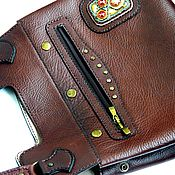 Сумки и аксессуары handmade. Livemaster - original item Bag-transformer ( made of genuine Buffalo leather). Handmade.