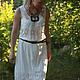 """Платья ручной работы. Ярмарка Мастеров - ручная работа. Купить Платье """"Ажурное"""" белое купон шитье, прованс винтаж, бохо. Handmade."""