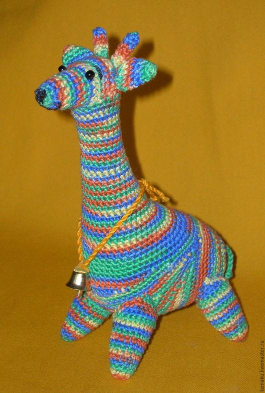 Игрушки животные, ручной работы. Ярмарка Мастеров - ручная работа. Купить Жираф Одомашненный. Handmade. Жираф, вязанная игрушка, подарок