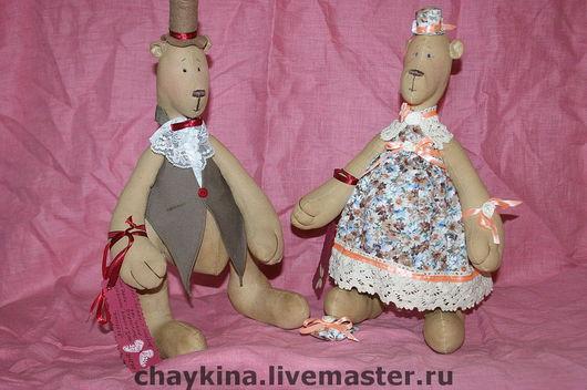 Ароматизированные куклы ручной работы. Ярмарка Мастеров - ручная работа. Купить Медведи Акулина и Афанасий. Handmade. Медведи, авторские мишки