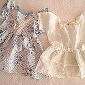 Винтаж ручной работы. Ярмарка Мастеров - ручная работа лот:два винтажных платья для куклы. Handmade.