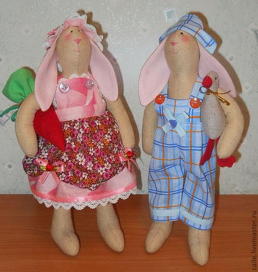 """Куклы Тильды ручной работы. Ярмарка Мастеров - ручная работа. Купить """"Сладкая парочка"""" для Элеоноры. Кролики Тильды. Handmade. Тильда"""