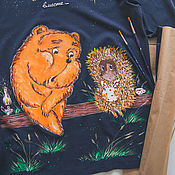 Одежда handmade. Livemaster - original item t-shirt the hedgehog and the Bear. Handmade.