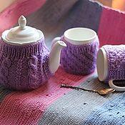 Сувениры и подарки handmade. Livemaster - original item Set of Kettle in a hot water bottle. Mugs in a knitted sweater. Handmade.