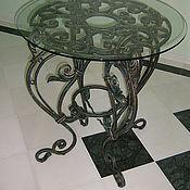Для дома и интерьера ручной работы. Ярмарка Мастеров - ручная работа Кованый круглый чайный столлик. Handmade.