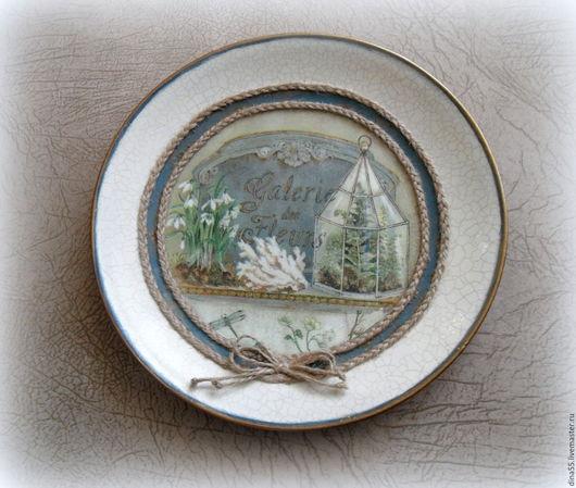 Персональные подарки ручной работы. Ярмарка Мастеров - ручная работа. Купить декоративная тарелка Galerie dec Fleurs. Handmade.