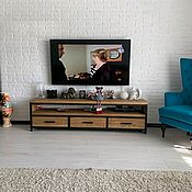 Для дома и интерьера handmade. Livemaster - original item Loft TV stand