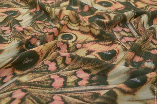 Шитье ручной работы. Ярмарка Мастеров - ручная работа. Купить Шёлк натуральный Бабочки Италия.. Handmade. Комбинированный, шелк на платье