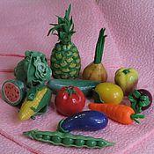 Куклы и игрушки ручной работы. Ярмарка Мастеров - ручная работа Овощи, фрукты (миниатюра из полимерной глины). Handmade.