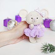 Мягкие игрушки ручной работы. Ярмарка Мастеров - ручная работа Мышка. Handmade.