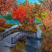 Картины и панно ручной работы. Ярмарка Мастеров - ручная работа Осень в старом парке. Handmade.