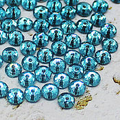 Материалы для творчества handmade. Livemaster - original item Crystals: Rhinestones-sequins aquamarine 5h5 mm sewn 10 PCs. Handmade.