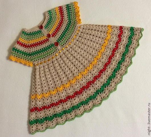 """Одежда для девочек, ручной работы. Ярмарка Мастеров - ручная работа. Купить Платье """"Краски лета"""". Handmade. Ажурное платье, нарядное"""