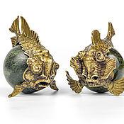 Для дома и интерьера ручной работы. Ярмарка Мастеров - ручная работа Рыба-пиранья / Рыба-дракон. Handmade.
